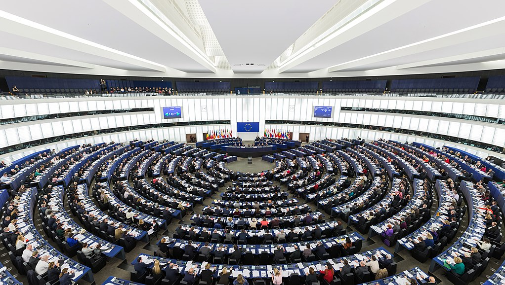 Parlamento europeo. Photo by David Iliff. License: CC-BY-SA 3.0 (wikipedia)